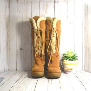 e7f1c5dce040 KORS Michael Kors Shoes - Michael Kors Shearling Lace Up Winter Wedge Boots